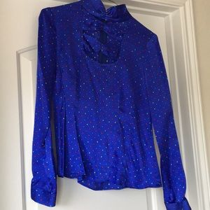 Silk blouse polka dot